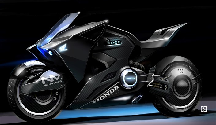 "Honda futuristic motorcycle based on the NM4 Vultus makes appearances in the feature film ""GHOST IN THE SHELL"""