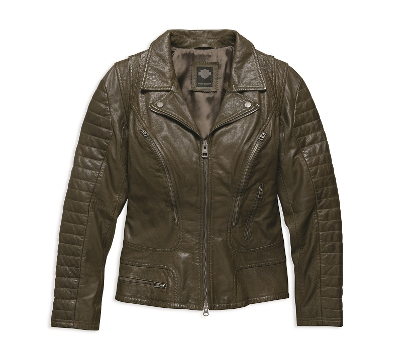 Women's Washed Goatskin Leather Jacket
