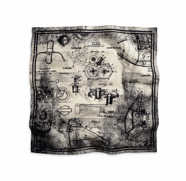 Men's Stone Blueprint Bandana