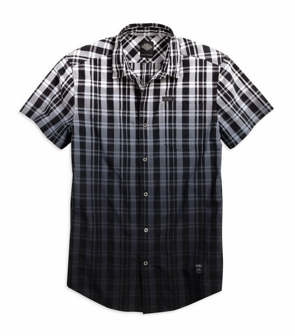 Men's Plaid Dip-Dye Plaid Shirt