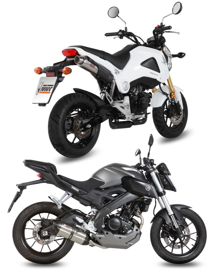 Honda MSX125 e Yamaha MT-125