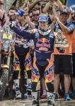 Marc Coma_podium_Dakar 2015