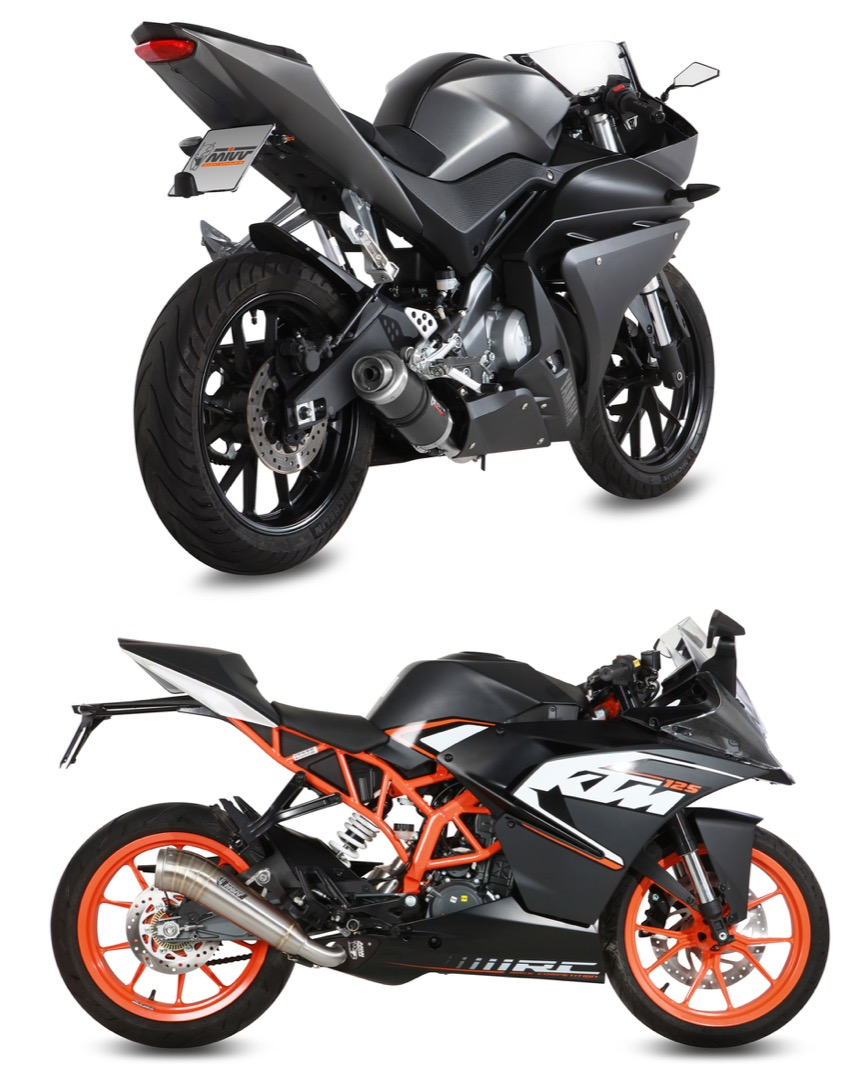 Yamaha YZF R125 e KTM RC125